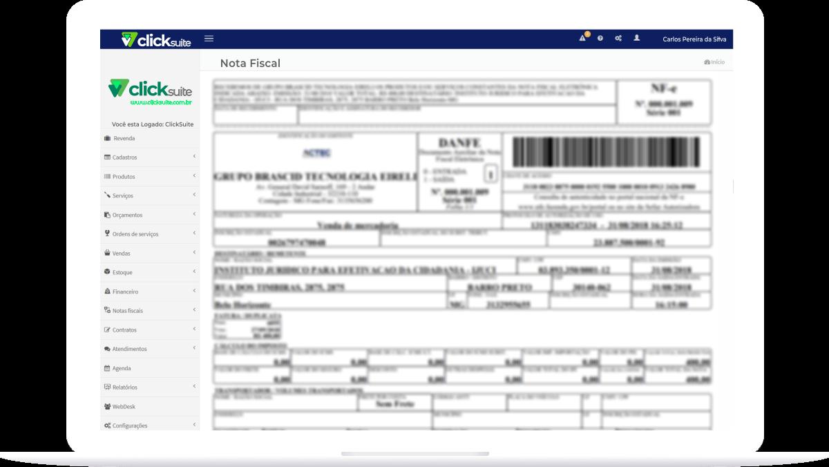Emissão de Notas NFe e NFs - ClickSuite